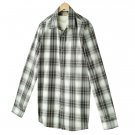Mens 2 in 1 Casual Button-Front Shirt + Tee  XXL or 2XL Gray Sonoma NEW