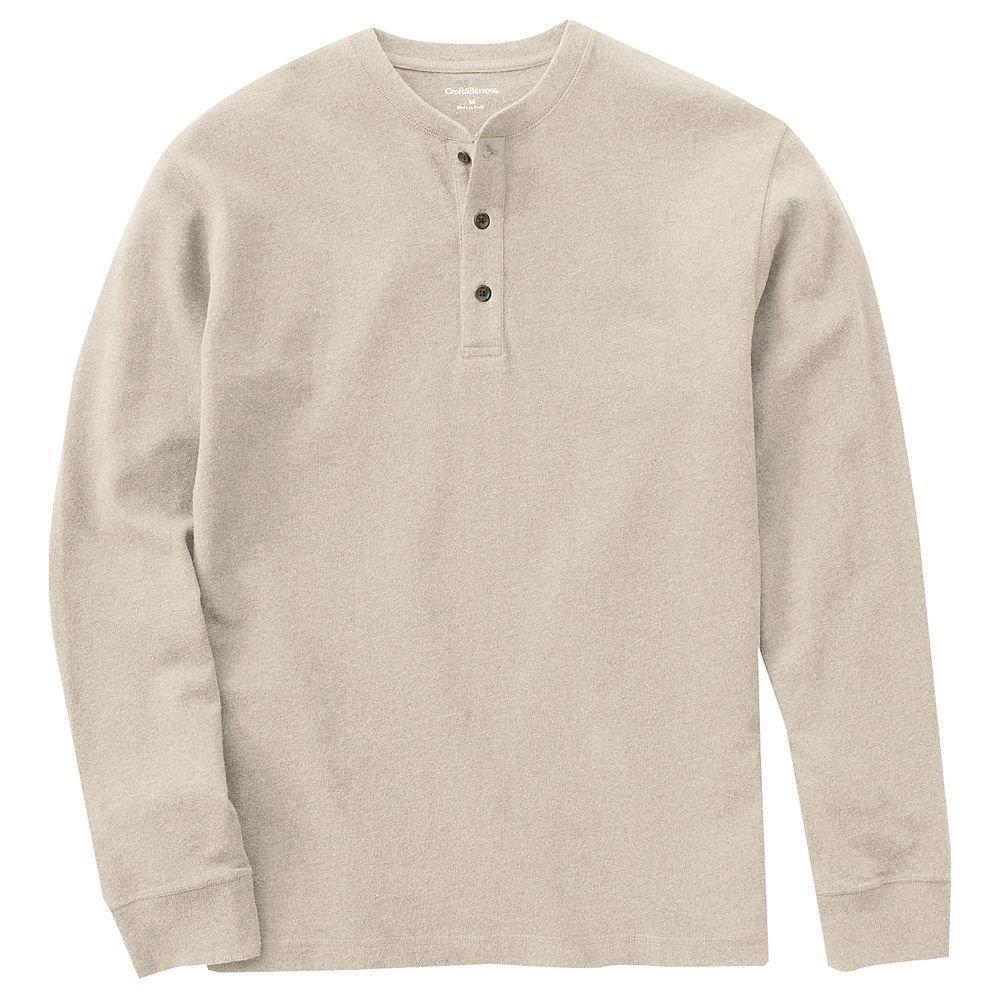 Mens henley shirt top long sleeve sz xxl tan sueded new for Best henley long sleeve shirts