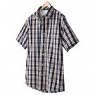 Mens 2 in 1 Casual Button-Front Shirt + Tee Extra Large or XL Navy Orange Sonoma NEW