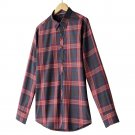 Mens Plaid Casual Button-Front Shirt or Top Apt. 9 Extra Large or XL Burgundy NEW