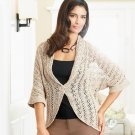 Dana Buchman Crochet Cardigan Sweater Medium Biege Size Small NEW