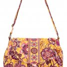 Vera Bradley Purse Handbag Shoulder Bag Saddle Up Bali Gold $65 NEW