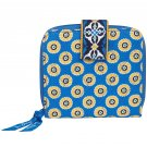 Vera Bradley Mini Zip Wallet Riviera Blue Billfold $27 NEW