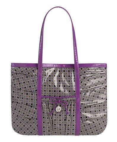 Vera Bradley Extra Large Tote Bag Take me With You Tote Frill Simply Violet $68 NEW