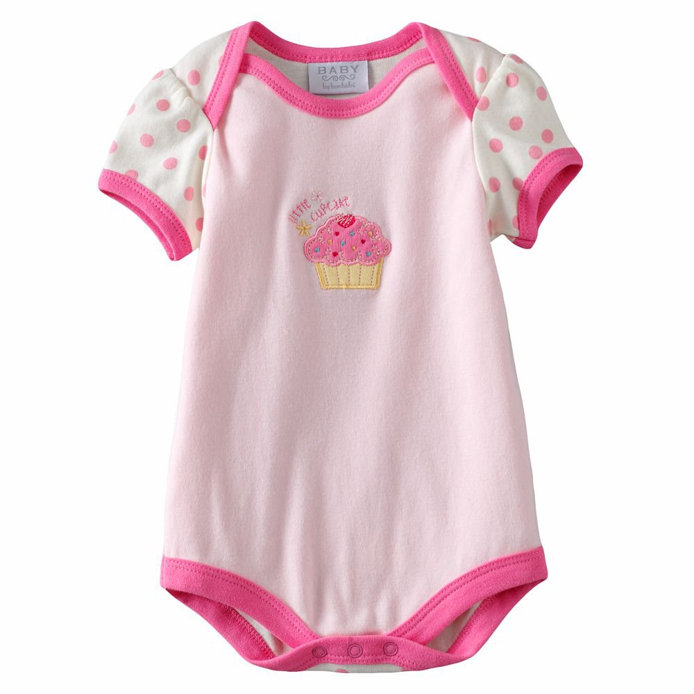 NEW Baby by Bon Bebe One Pc 3 to 6 Mo Baby Outfit Cupcake Design Onesie