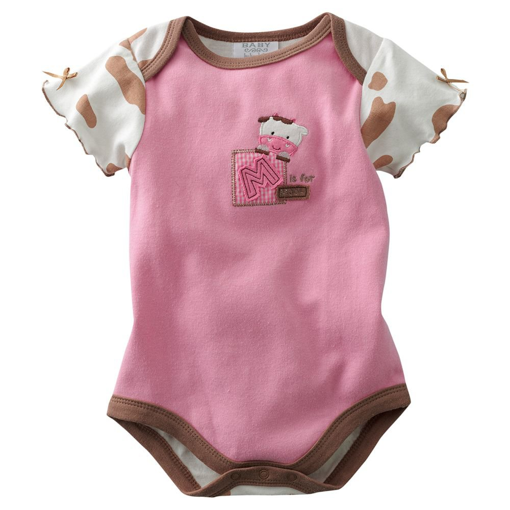 NEW Baby One Pc Baby by Bon Bébé Cow Bodysuit 3 to 6 Months