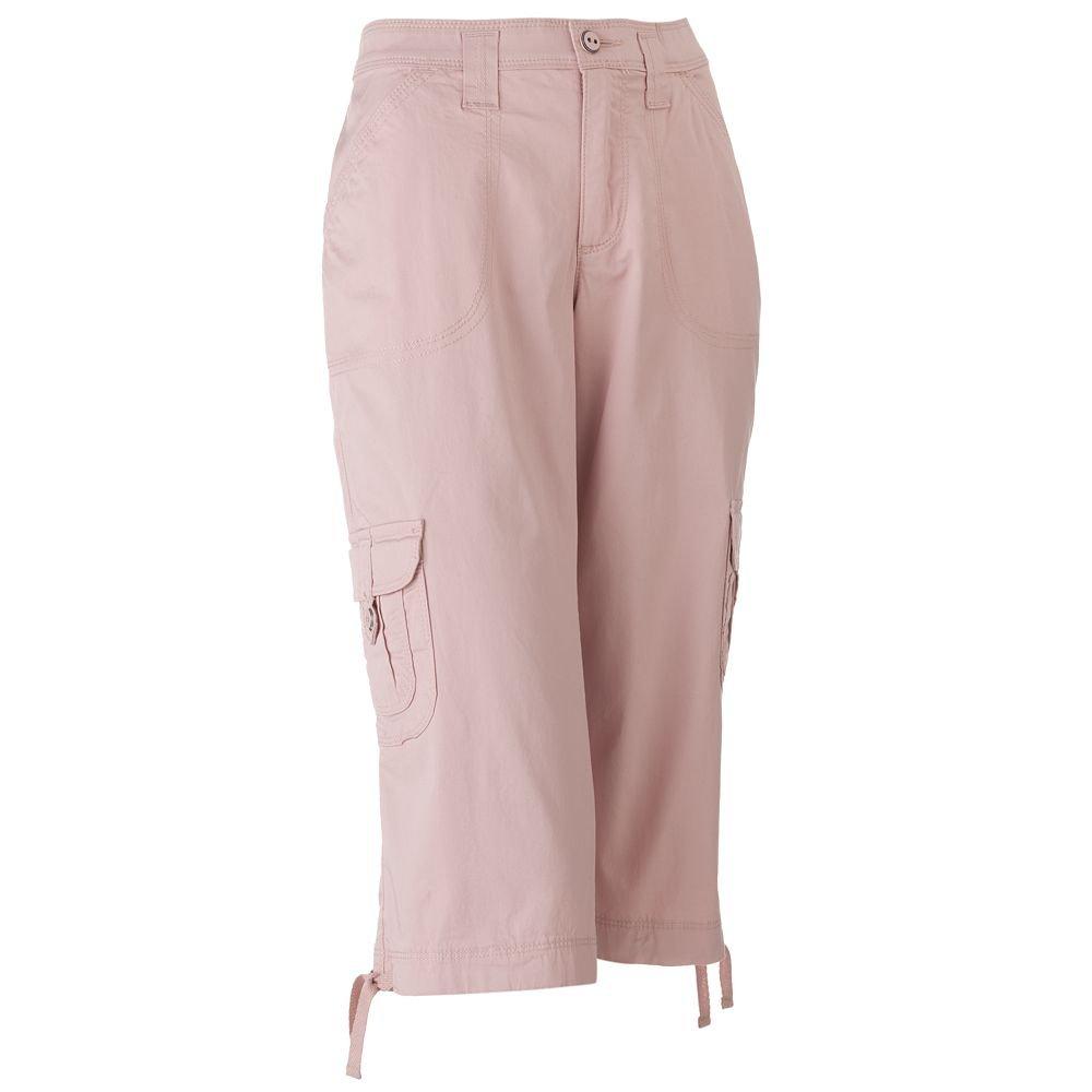 NWT Lee Brand Womens Capris Capri Pants Sz. 12 Petite Pink $42.00