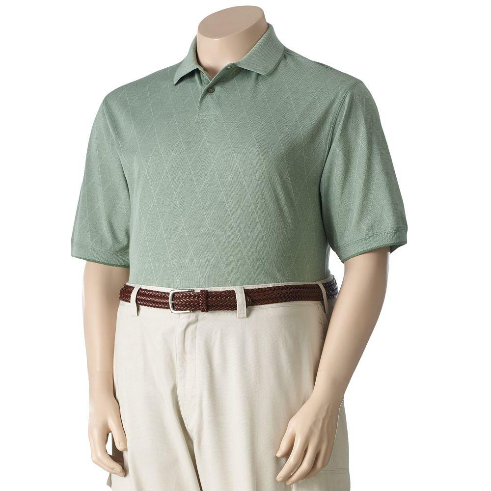 NEW Jacquard Polo Shirt Mens Short Sleeve Sz Large Tall or LT Haggar $40.00