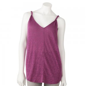 Juniors Teens Girls Dark Rose Textured Tank Top by Hang Ten Sz Large or L $24.00 NEW