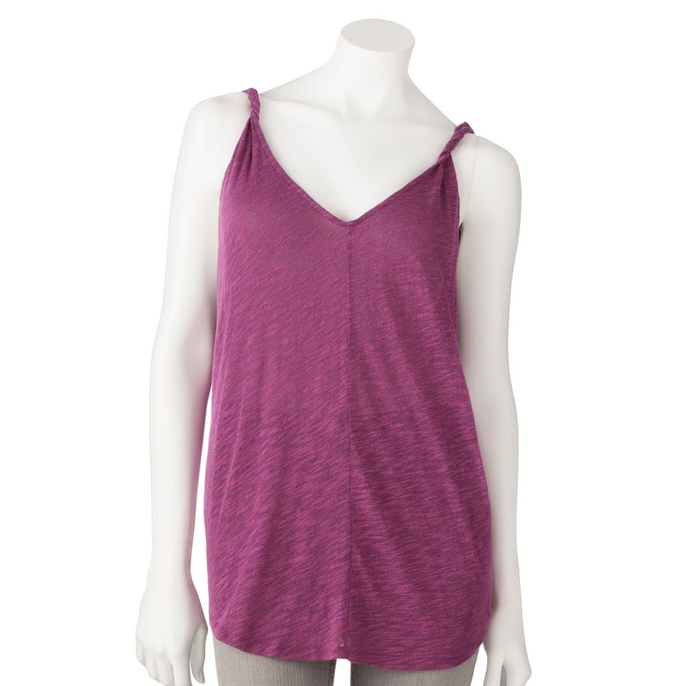 Juniors Teens Girls Dark Rose Textured Tank Top by Hang Ten Sz Small or S $24.00 NEW
