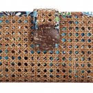 Vera Bradley Small Medium Tiki Clutch Handbag Purse Bali Blue $58 NEW