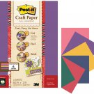 Post It Craft Paper Full Adhesive 6 Colors Jewel Tones NEW