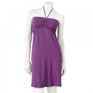Juniors Teens Tube Style Dress Halter Purple Size Medium NEW $30