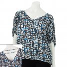 Juniors Teens Girls White Base Woven Geometric Top by Hang Ten Sz Large or L $38.00 NEW