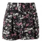 Womens Black Floral Pleated Dress Shorts by Elle Sz 12 - $40 - NEW