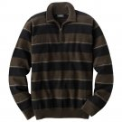Mens Arrow Brand Striped 1/4 Zip Sweater Brown Medium M NEW