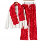 Croft & Barrow Fleece Pajama Set Stars White Red XXL 2XL 3 Pc Set $44 NEW