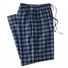 Mens Sz. 2XL or XXL Navy Blue Plaid Flannel Sleep Lounge Pants NEW $30