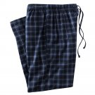 Mens Sz. Small or S Multi Blues Plaid Flannel Sleep Lounge Pants NEW $30