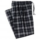 Mens Sz. Medium or M Multi Black Gray Plaid Flannel Sleep Lounge Pants NEW $30