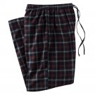 Mens Sz. 2XL or XXL Black Gray Maroon Plaid Flannel Sleep Lounge Pants NEW $30