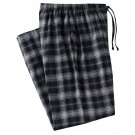 Mens Sz. Small or S Black Gray Plaid Flannel Sleep Lounge Pants NEW $30