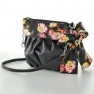 Floral Bow CrossBody Cross Body Purse Handbag Black Candies NEW $38.00