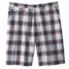 NEW Mens Plaid Shorts in Red Blue Sz. 30 Flat Front Sonoma $34.00