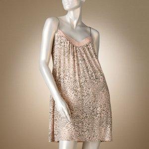 Tan Leopard Chemise Nightgown by Jennifer Lopez Sz Medium M $40 NEW