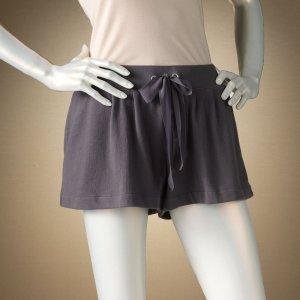 Jennifer Lopez Pleated Sleep or Lounge Shorts in Gray Size Extra Large XL NEW $30