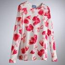 Vera Wang Womens Breast Cancer Awareness TEE T-Shirt Small or S Long Sleeves NEW