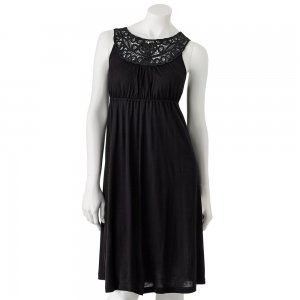 Candies Size Medium or M Soutache Dress Solid Black NEW $58.00