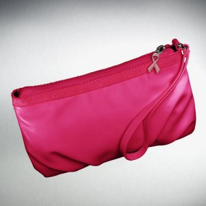 SVVW Vera Wang Breast Cancer Awareness Pleated Wristlet Bright PINK New