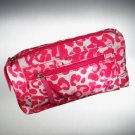 SVVW Vera Wang Breast Cancer Awareness Make Up Cosmetic Bag Leopard New