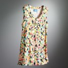 Vera Wang Womens Petite Large PL Splatter Tank Top Shirt NEW