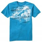 Boys Small S Wave Plaid Tee by Hang Ten NEW $16