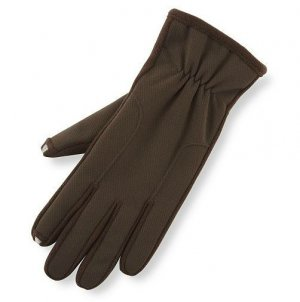 Womens Isotoner Brown Smartouch Stretch Tech Gloves Sz. M/L Medium to Large Winter NEW $42