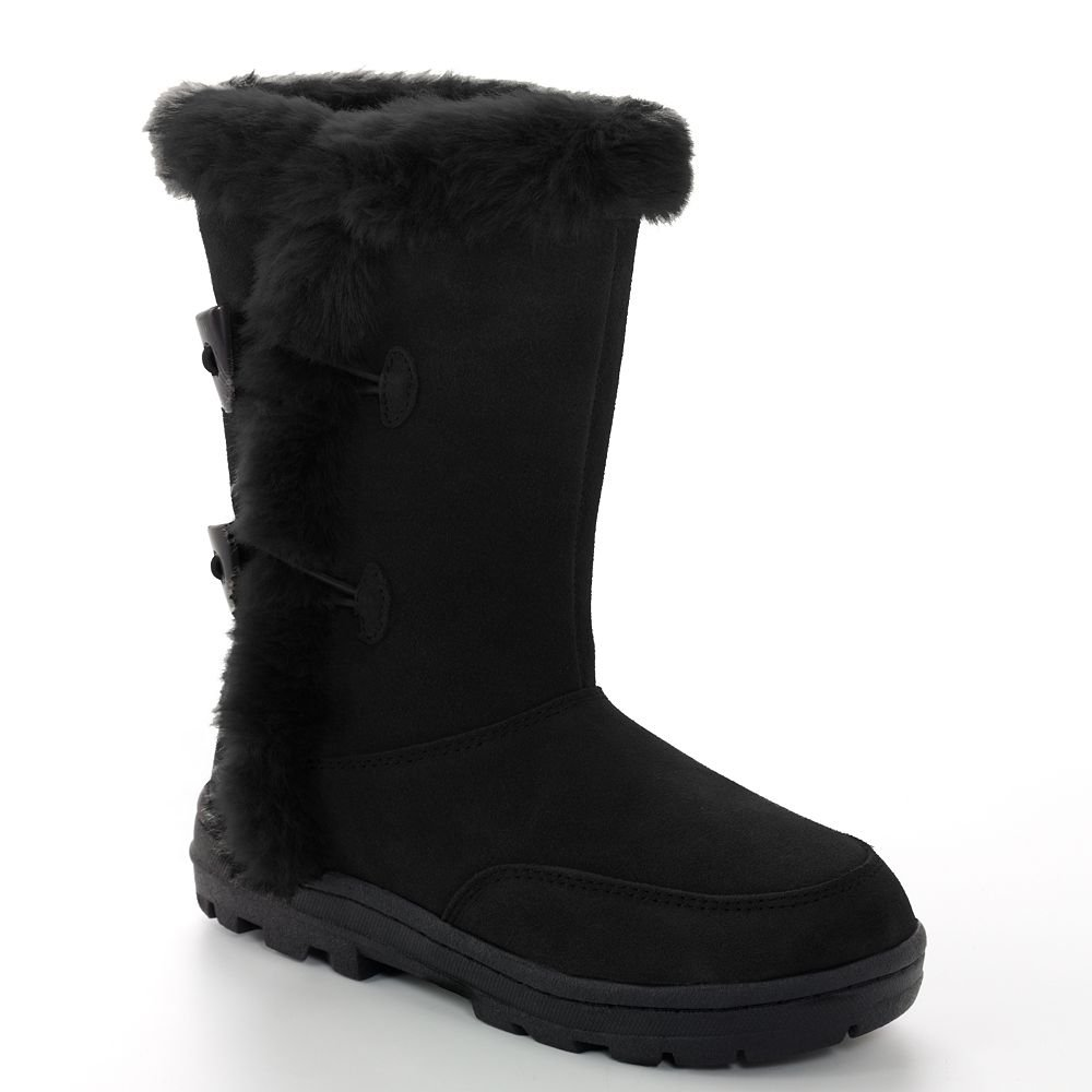 New Womens Boots Sz 9 Sonoma Midcalf Black Boots Faux Fur