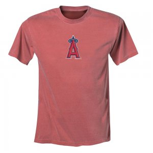Adult Unisex Los Angeles Angels Tee or T-Shirt by Majestic Retro Look Red Size Small NEW
