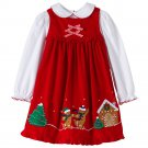 Christmas Holiday Dress Gingerbread Jumper & Top Set Sophie Rose Size 5 NEW