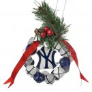 NEW New York Yankees Wreath Ornament Christmas Decor $16