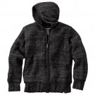 Machine Heathered Hoodie Mens Black Hoodie Hooded Zip Front Jacket Sz Large or L $100 NEW