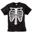 Mens Teens Boys Black RibCage Rib Cage TShirt Halloween Medium NEW