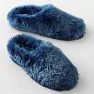 Womens Plush Clog Slippers by SO Navy Blue Multi Size Large NEW $28