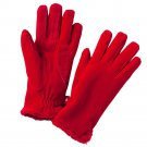 Isotoner Womens Fleece Gloves Fur Lined OSFA Red NEW $35