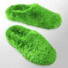 Womens Plush Clog Slippers by SO Lime Green Size Medium NEW $28