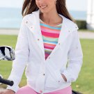 Chaps Snap Front Jacket in White Womens Sz. Large with Pockets NEW ~~$90.00~~