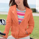 Chaps Snap Front Jacket in Orange Womens Sz. Large with Pockets NEW ~~$90.00~~