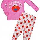 Sesame Street Elmo Girls 2 Piece Cotton Pajama Sleepwear Set Size 4T NEW