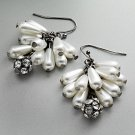 NEW Vera Wang Jet Simulated Pearl Drop Earrings FREE SHIPPING
